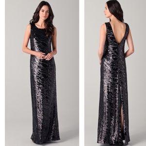 NWOT Rachel Zoe sequin floor length evening gown